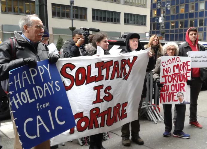 HALT Solitary Confinement Act, CAIC Protest at Governor Cuomo Office